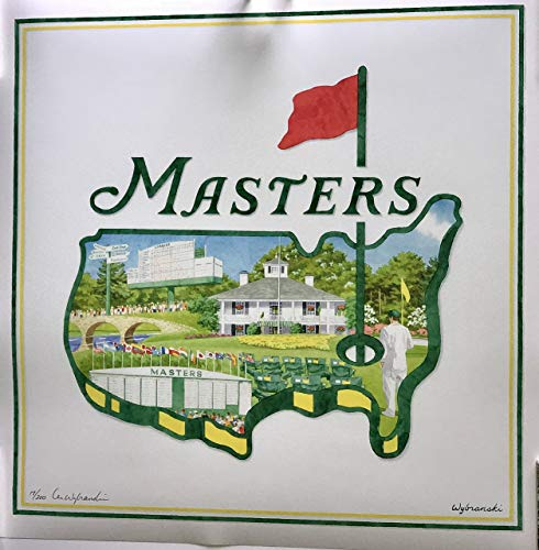 - Masters golf Print Poster limited edition the Masters experience signed 19/200 lee wybranski 2019 pga