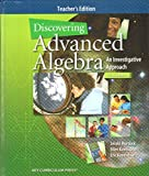 advanced algebra teachers edition - Discovering Advanced Algebra An Investigative Approach [Teacher's Edition]
