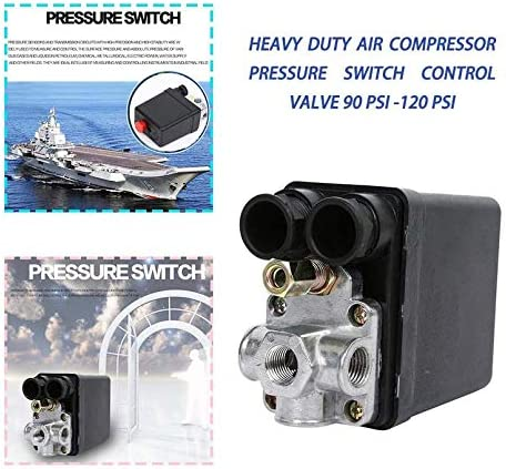 sahnah Heavy Duty 240V 16A Auto Control Auto Load//Unload Air Compressor Pressure Switch Control Valve 90 PSI 120 PSI