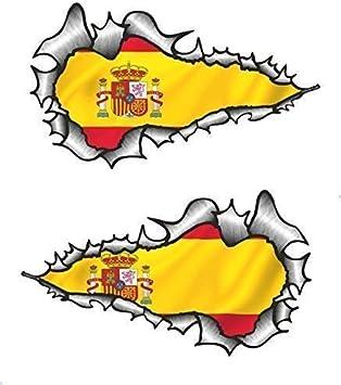 Sticar-It Ltd Largo Par Rasgado Metal Español España País Nacional ...