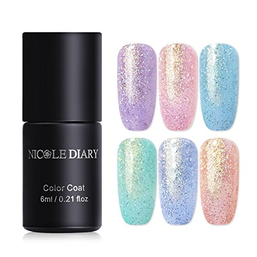 NICOLE DIARY Gel Nail Polish Pearl Mermaid Fairy Streamer Na