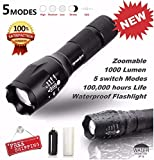 Best Led Flashlights G700s - Coohole LED Flashlight G700 SkyWolfeye X800 Zoomable Super Review