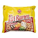 Ottogi Jin Ramen, Hot, 4.23 Ounces (Pack of 40)