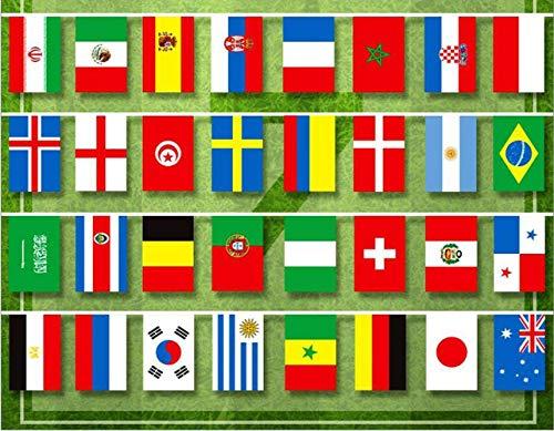 Come 2018 Bar Paese Decorazione Bandiera Mondo 32 Stringa Cm Fan Russia Banner Calcio 14x21 Zhrui Del Partito Mostrato Di Gyh Coppa Home R86TxdqF