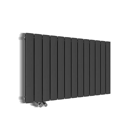 Design Heizkörper 630x1001mm Doppellagig Badezimmer/Wohnraum  Seitenanschluss Antrazit Flachheizkörper Badheizkörper Radiator