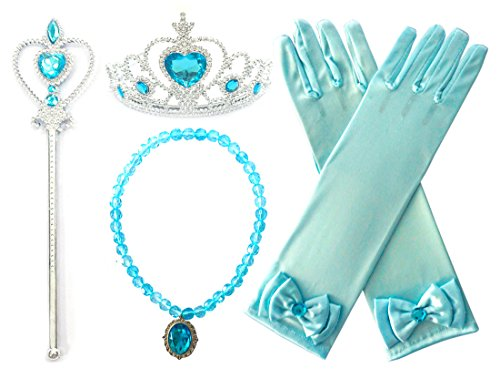 Kuzhi Princess Cinderella Elsa Dress up Party 4-Piece accessories Gift Set ()