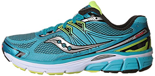 Saucony Women's Omni 14 Running Shoe,Blue/Black/Citron,US 6.5 N