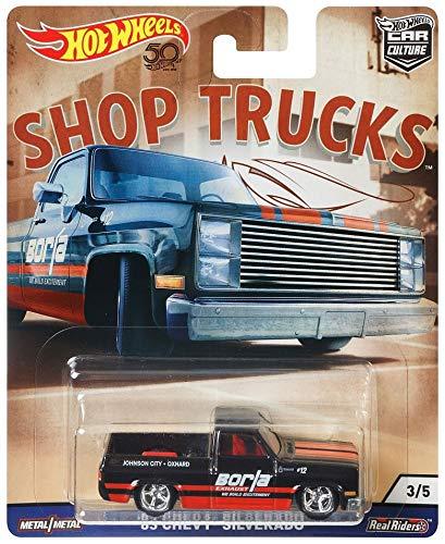 Truck Wheels Mini Hot (Hot Wheels 1983 Chevy Silverado Toy Vehicle)