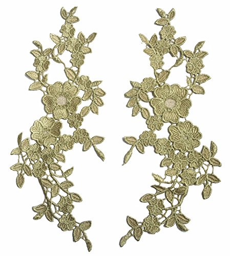 A Set of Baroque Flower Sewn On Patches Embroidered Garment DIY Accessory (Many - Baroque Flowers