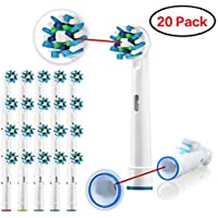 20-Pack Ywey Toothbrush Replacement Brush Heads Refill for Oral B Braun Electric Toothbrush