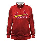 MLB St. Louis Cardinals Men's Big & Tall Track Jacket, 3X/Tall, Red/White