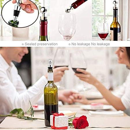 Juego De 4 Piezas De Tapón De Vino Tapón De Champán Para Botella De Vino, Tapón De Botella De Vino, Utilizado Para Vino, Champán, Vino Tinto, Cerveza, Sellador De Botella De Vidrio (Plateado)