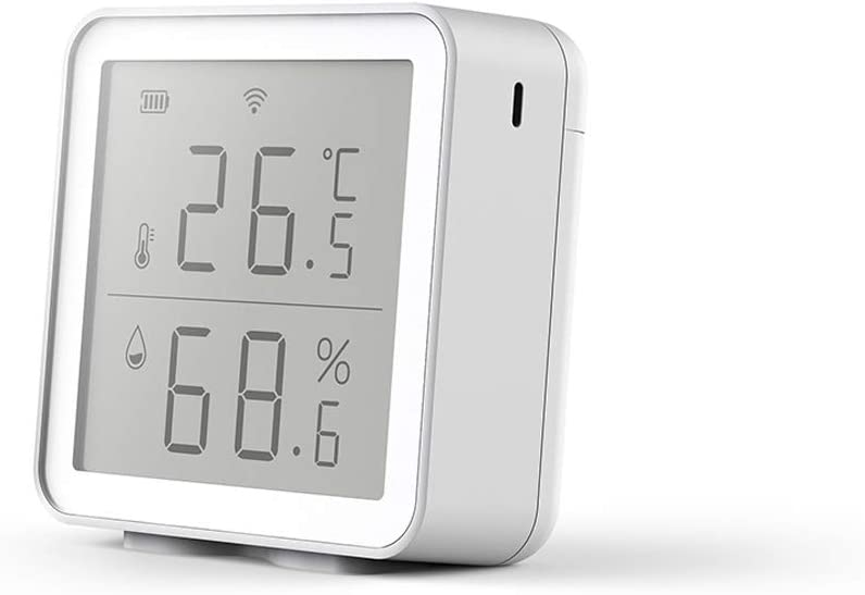 DYHF WiFi Temperature Humidity Sensor Alexa Google Home, Wireless Digital Indoor Thermometer Temperature and Humidity Gauge Monitor with Low Voltage Monitoring Prompt Function