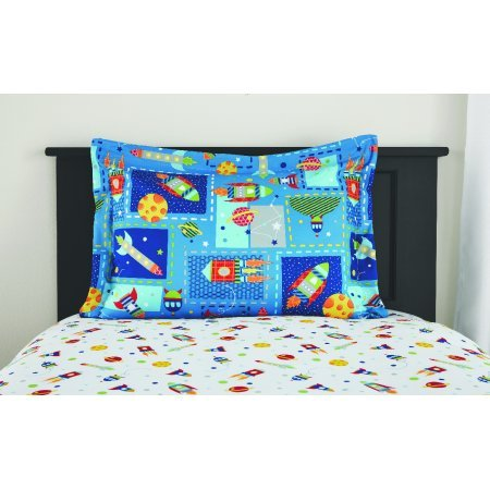 MS Twin/Full Comforter Set, (Space Bed in a Bag + Handi Wipes, Full) by Mainstay (Image #3)