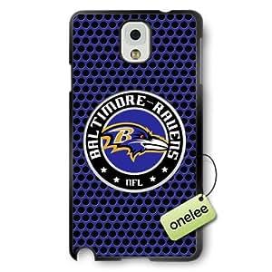 NFL Baltimore Ravens Team Logo Samsung Galaxy Note 3 Black Rubber(TPU) Soft Case Cover - Black