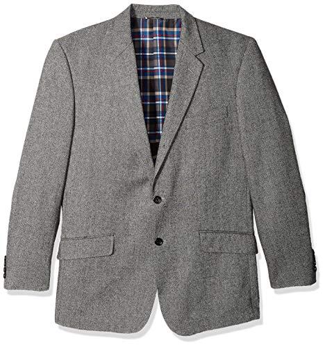U.S. Polo Assn. Men's Portly Cotton Cashmere Sport Coat, Grey/Black, 42 Regular