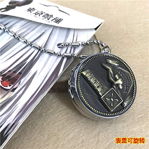 league game animation flip pocket watch men table retro necklace pendant chain gift (tokyo ghoul ()