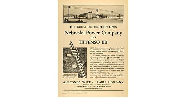 Amazon.com: 1931 Ad Anaconda Wire Cable Company Hitenso BB Alloy ...