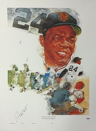 WILLIE MAYS AUTOGRAPHED 18X24 LITHOGRAPH SAN FRANCISCO GIANTS PSA/DNA STOCK #83113 (San Francisco Lithograph)
