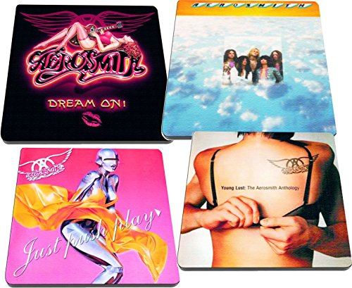 - Aerosmith Rock and Roll Albums Reproduced on Neoprene Coaster Set of 4 Steven Tyler