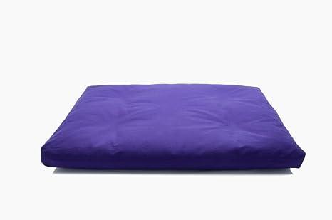 Amazon.com: Púrpura Deluxe Zabuton cojín de meditación ...