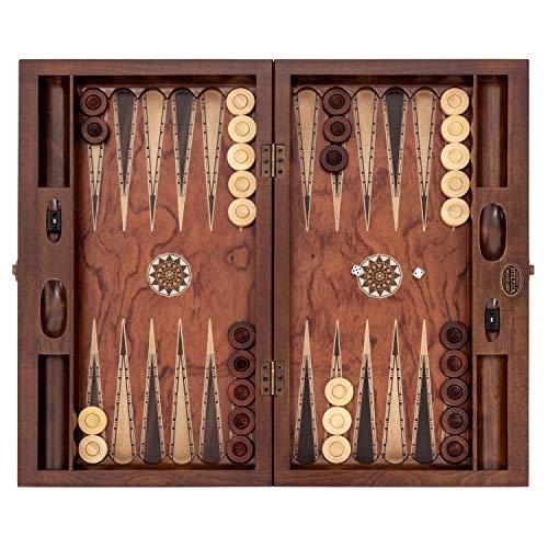Helena wood art King Backgammon Set | Rosewood