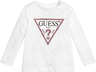 Guess - Camiseta de algodón Bianco 0-3 Meses: Amazon.es: Ropa y ...