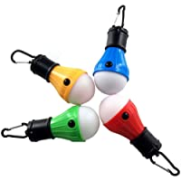 LED Tent Lights 4 Pack Portable Camping Light Lamp Tent Lantern Bulb for Hurricane Emergency Backpacking Hiking Outdoor and Indoor, Battery Powered for Power Outage (4 colors)