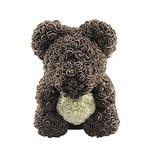Academyus Love Heart Foam Rose Flower Lovely Bear Lovers Valentine's Day Birthday Romantic Gift 90