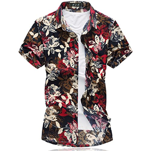 [Mary Steele Men Shirts Clearance Polo Mens Short Sleeve Silk Shirt Plus Size Summer Casual Floral Shirts Men 50Off 3016] (Morph Suite)