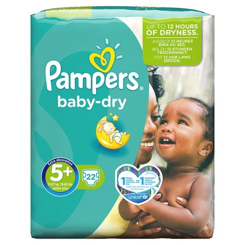 Pampers - Baby-Dry - 5+ Junior Plus - 22 in Pack