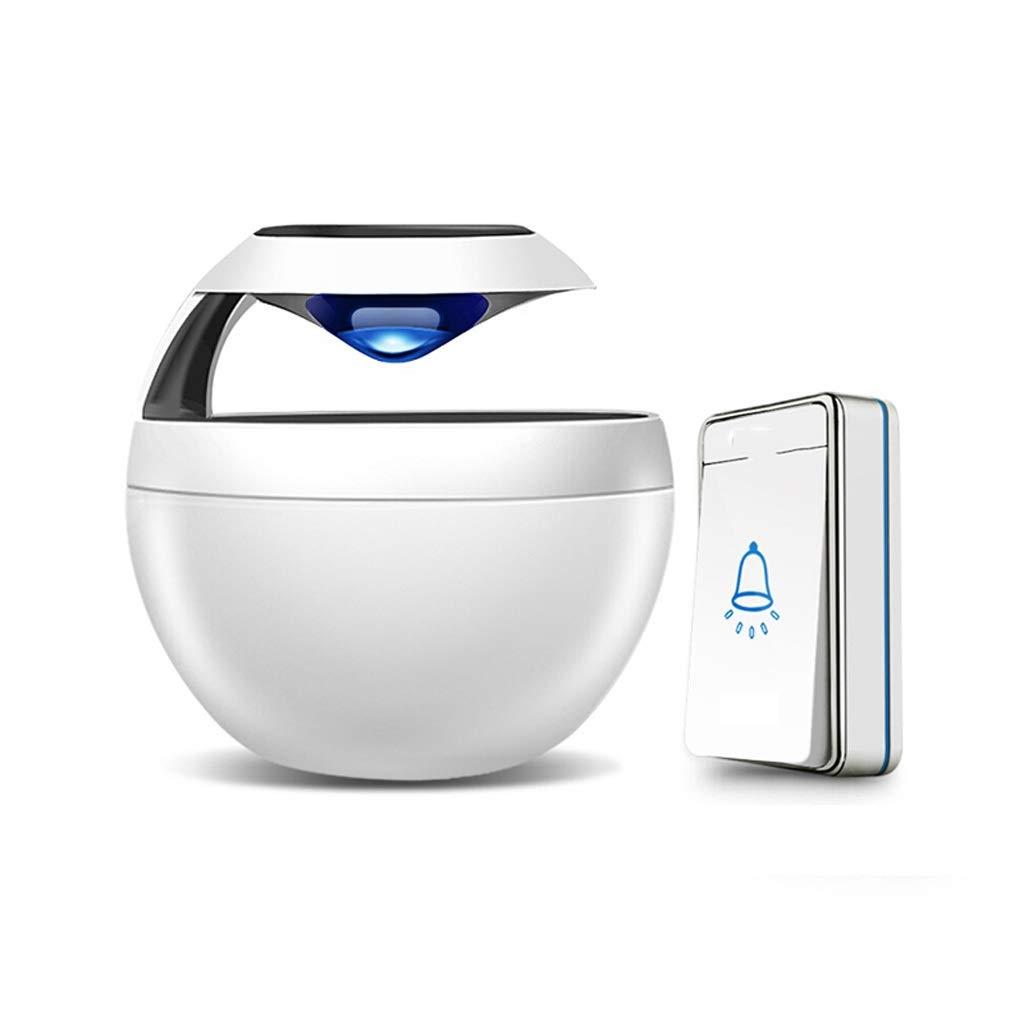 Sonnette imperm/éable /à leau sans fil multi-fonction batterie au lithium bouton tactile sonnette Villa maison /école bureau ville h/ôtel blanc
