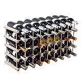 LTL Shop 40 Bottle Wood Wine Rack 5 Tier Storage Display Shelves Kitchen Natural