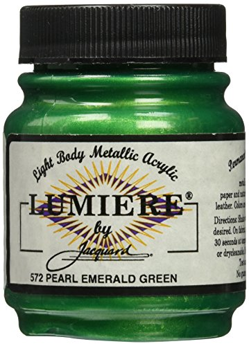 Jacquard Lumiere Metallic Acrylic Paint 2.25 Ounces-Pearlescent Emerald