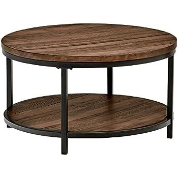 Marvelous Stone U0026 Beam Larson Industrial Wood U0026 Metal Round Coffee Table, ...