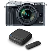 Canon EOS M6 Mirrorless Digital Camera Silver Kit with EF-M 18-150mm f/3.5-6.3 IS STM Lens - With Canon Connect Station CS100