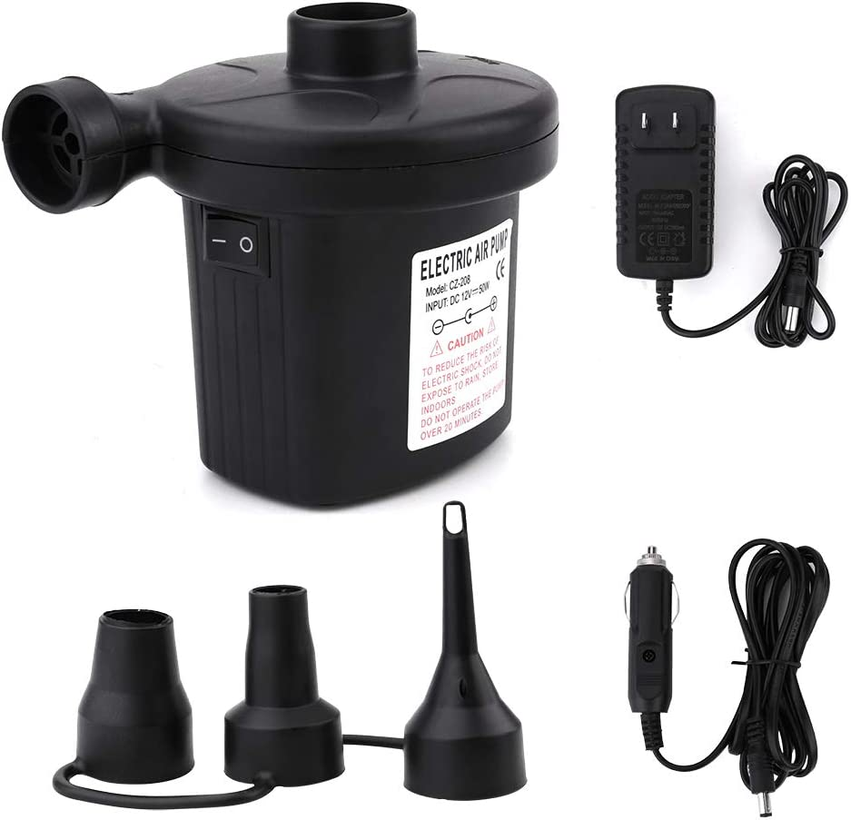 Electric Air Pump For Inflatable air mattress Camping Bed Pool car toys portable