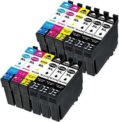 Ouguan - Cartuchos de Tinta para Epson 16 16XL para impresoras ...