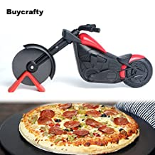 Buycrafty Pizza Chopper Motorbike Pizza Cutter multi purpose,Super Sharp and Easy To Clean Slicer Free Vegetable Peeler