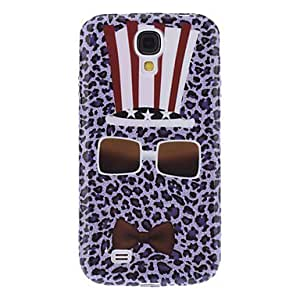 Cool Design Hat, Glasses and Tie Pattern Soft Case for Samsung Galaxy S4 I9500