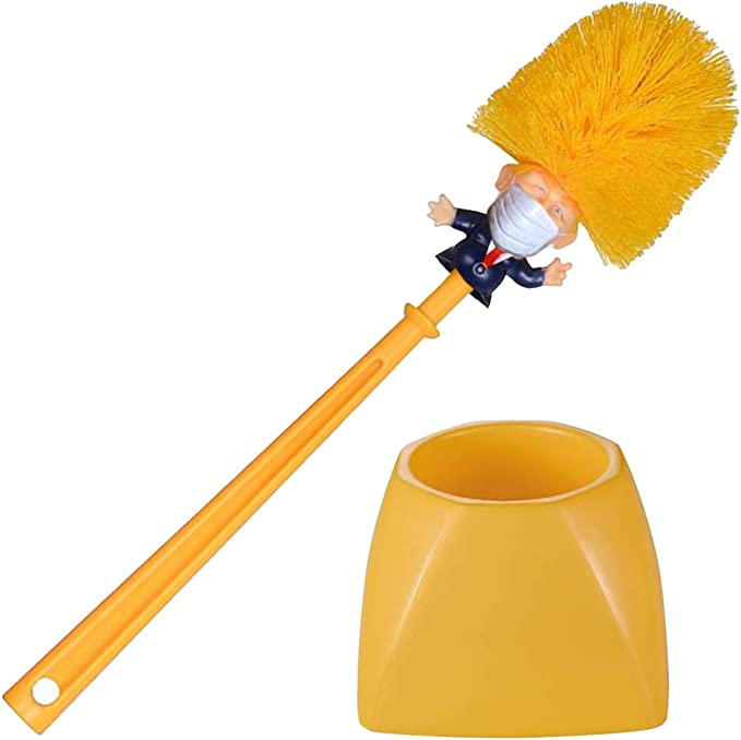 Original Donald Cleaner Scubber Trump Toilet Brush Funny Unique Holder Set Gift