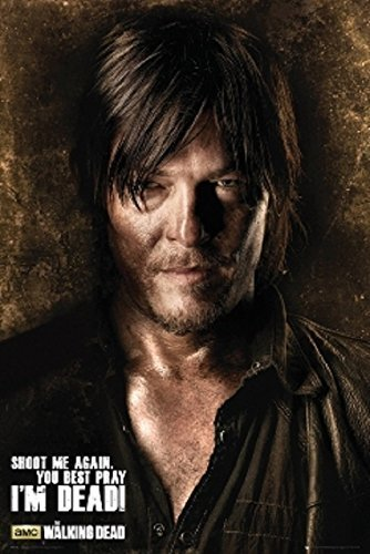 The Walking Dead - TV Show Poster / Print Daryl Dixon: Shoot Me Again,