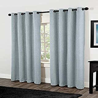 Exclusive Home Curtains Rita Linen Grommet Top Window Curtain Panel Pair, Ice Blue, 54x84 (B00G24TANQ) | Amazon price tracker / tracking, Amazon price history charts, Amazon price watches, Amazon price drop alerts