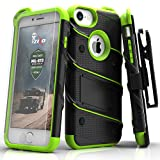 iPhone 7 Case, Zizo [Bolt Series] w/ [iPhone 7 Screen Protector ] Kickstand [12 ft. Military Grade Drop Tested] Holster Belt Clip - iPhone 6s /6 (Electronics)