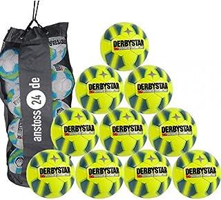 10 x DERBYSTAR ballon de football pour foot en salle gOAL pRO-balle de jeu avec filet