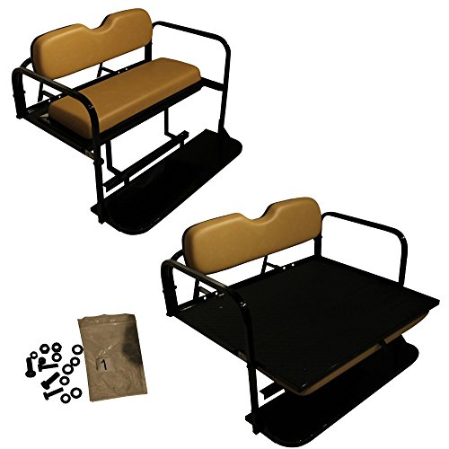Golf Cart Rear Seat EZ-GO TXT Tan Cushions