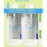 Bausch & Lomb Biotrue Multi-Purpose Solution - 2/16 Oz Bottles Plus 2 Lens Cases