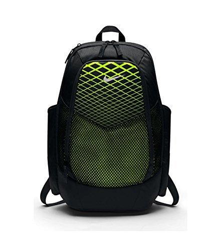 NIKE Vapor Power Training Backpack Black/Volt/Metallic (Power Softballs)