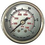 4FMY7 Pressure Gauges, 3-1/2 In