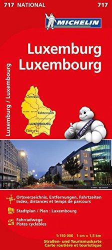 Michelin Luxemburg: Straßen- und Tourismuskarte (MICHELIN Nationalkarten, Band 717) Landkarte – 7. Februar 2012 2067170783 Karten / Stadtpläne / Europa Atlanten / Europa Reisekarten